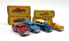 Dublo Dinky - four boxed models comprising 062 Singer Roadster