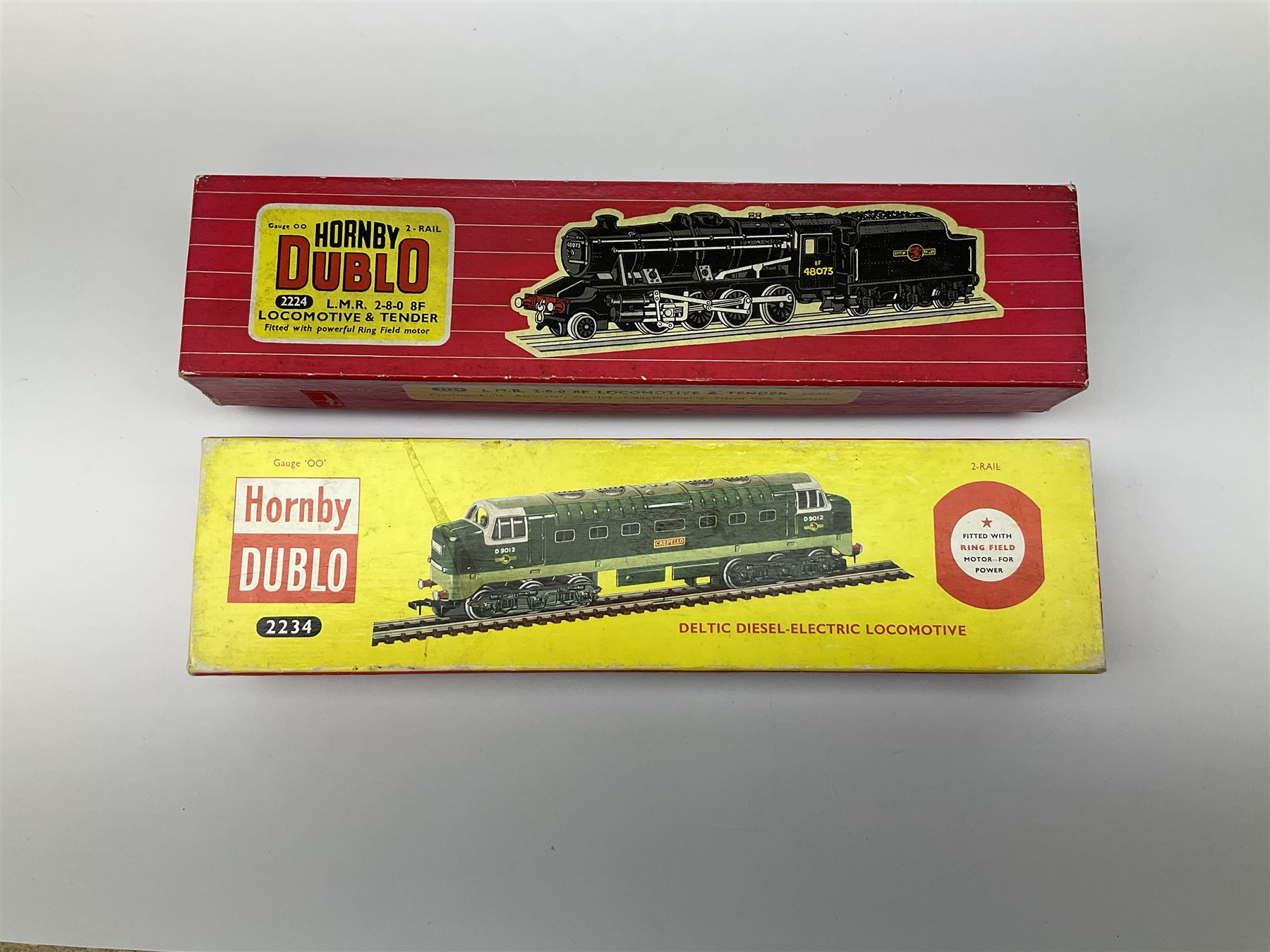 Hornby Dublo - two-rail 2224 Class 8F 2-8-0 locomotive No.48073 with instructions; and 2234 Deltic T - Image 7 of 7