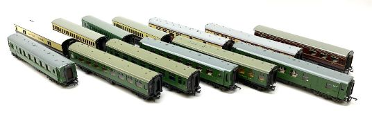 Hornby Dublo - thirteen re-painted coaches comprising LMS Buffet Car