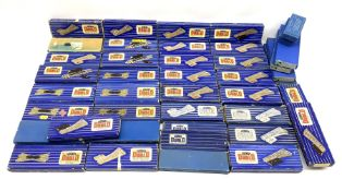 Hornby Dublo - forty-two boxed track accessories comprising three EUBR; eight ISPR (right hand); two
