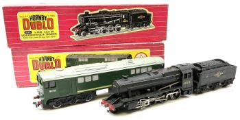 Hornby Dublo - two-rail 2224 Class 8F 2-8-0 locomotive No.48073 with tested tag: and 2233 Met-Vic Co