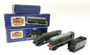 Hornby Dublo - three-rail Class 20 1000 B.H.P. Bo-Bo Diesel Electric locomotive No.D8000 with instru