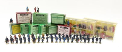 Hornby Dublo/Dinky - ten sets of railway station figures comprising three D1 Miniature Station Set/R
