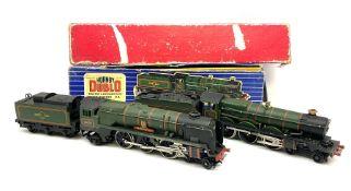 Hornby Dublo - two-rail 2220 Castle Class 4-6-0 locomotive 'Denbigh Castle' No.7032 in wrong blue st