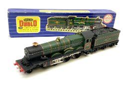 Hornby Dublo - three-rail Castle Class 4-6-0 locomotive 'Ludlow Castle' No.5002 with tender in blue