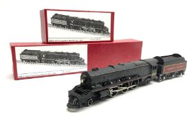 Hornby Dublo - three-rail Canadian Pacific Railway 4-6-2 locomotive No.1215 and tender; both in mode