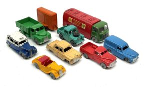 Dublo Dinky - eight unboxed models comprising 061 Ford Prefect
