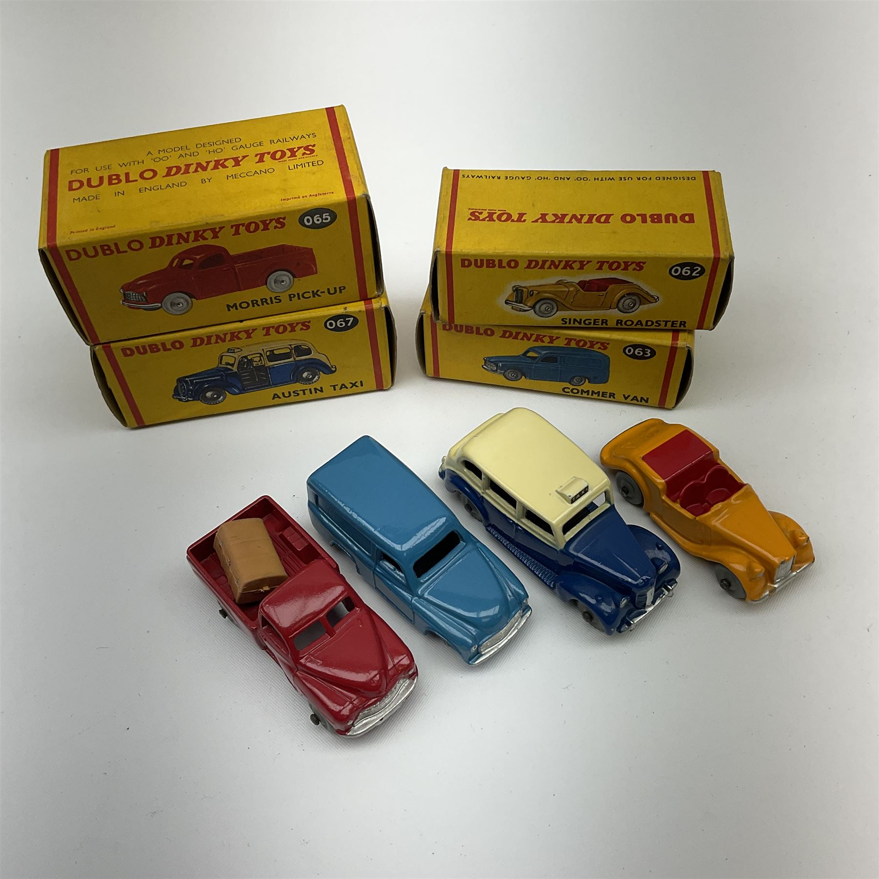 Dublo Dinky - four boxed models comprising 062 Singer Roadster - Image 2 of 4