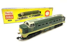Hornby Dublo - three-rail Deltic Type Diesel-Electric Co-Co locomotive 'St. Paddy' No.D9001with test