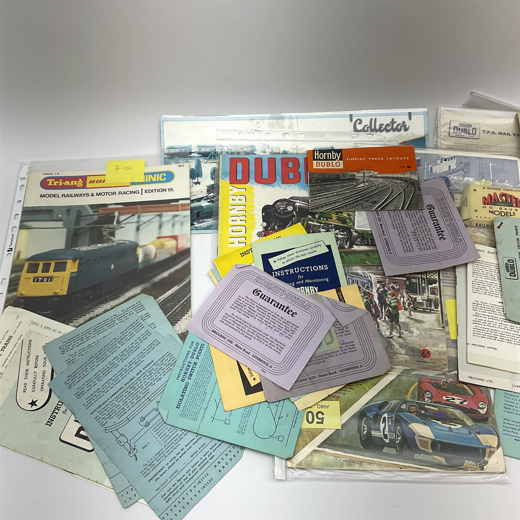 Hornby Dublo - quantity of paper ephemera including Electric Trains catalogues 1960 & 1961; Rail Lay - Image 5 of 9