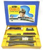 Hornby Dublo - three-rail EDG18 Tank Goods Train set with BR black 4MT Standard 2-6-4 tank locomotiv