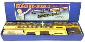 Hornby Dublo - three-rail EDG7 Tank Goods Train set with LMS black 0-6-2 Tank locomotive No.6917