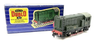 Hornby Dublo - three-rail Class 08 0-6-0 Diesel Electric Shunting locomotive No.D3763 with instructi