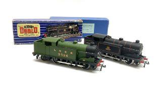 Hornby Dublo - three-rail Class N2 0-6-2 Tank locomotive No.9596 in medium blue box with inner card