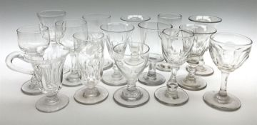 A collection of late Georgian/early Victorian glasses