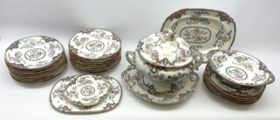 Victorian 'Oleaster' pattern stone China part dinner service by Charles Meigh