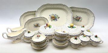 Copeland Spode Polka Dot pattern dinner and tea wares
