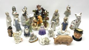 Group of assorted figures