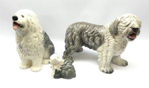 A Beswick fireside Old English Sheepdog