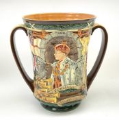 A Royal Doulton Charles Noke and Harry Fenton limited edition Coronation Loving Cup for Edward VIII