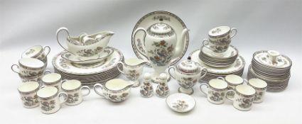 Wedgwood Kutani Crane pattern dinner and teawares