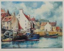 Jack Rigg (British 1927-): Scottish Harbour