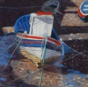 Keith Blessed (British Contemporary): 'Boat on Staithes Beck'