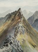 E Greig Hall (British 20th century): 'Striding Edge Helvellyn'