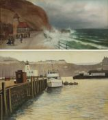 Richard Wood (British 20th century): Scarborough Harbour