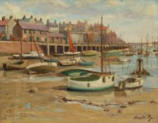 Harold Pye (Fylingdales Group mid 20th century): Bridlington Harbour at Low Tide
