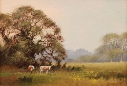 James Wright (British 1935-): Cows in the Field