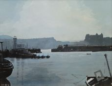 John Kemp (British 20th century): Summer Scarborough Harbour