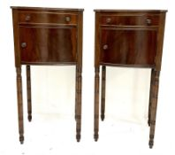 Pair of George III mahogany bedside tables