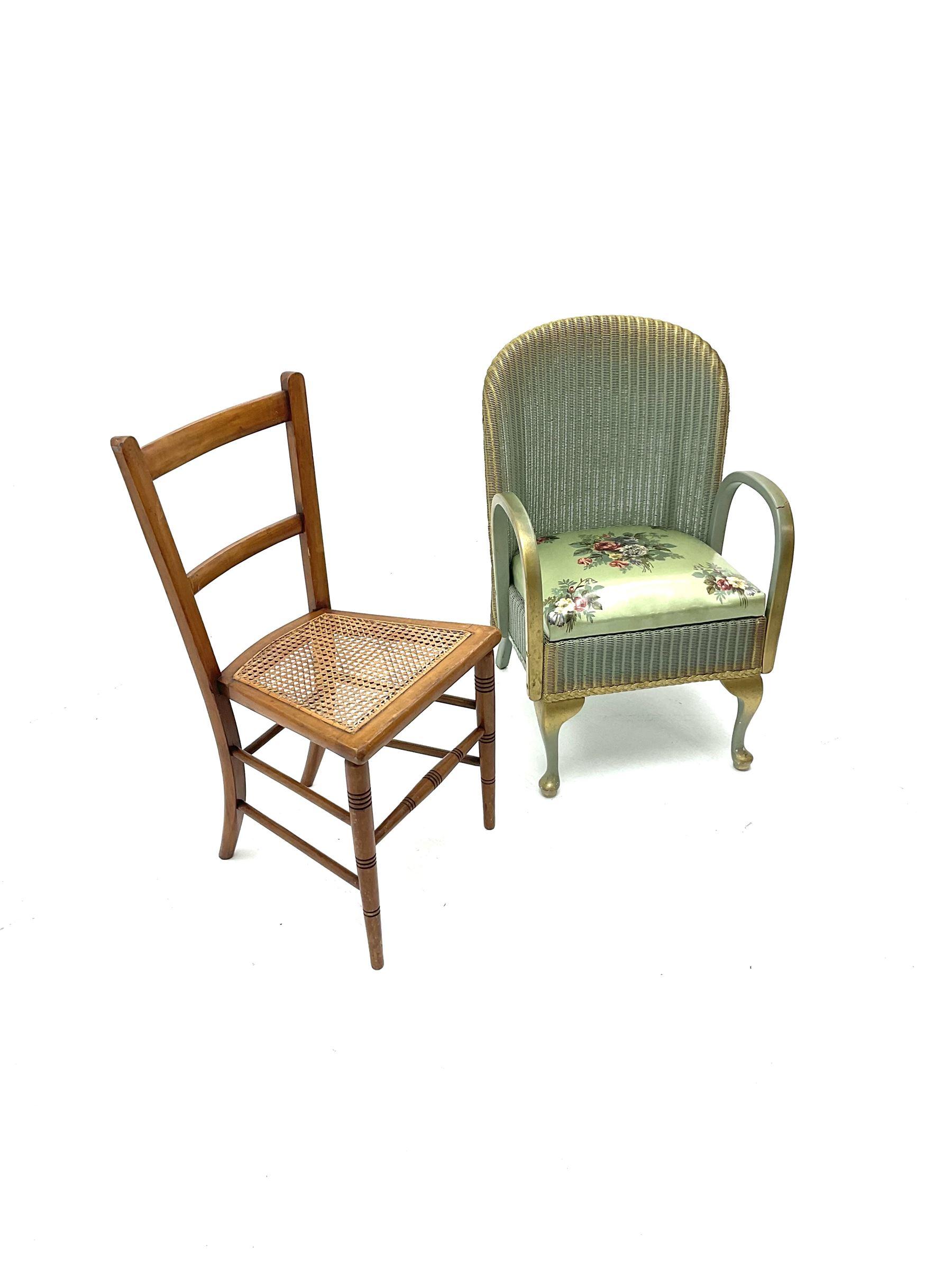 Loyd loom style chair - Image 3 of 3