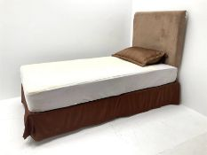 3' single bed with upholstered headboard