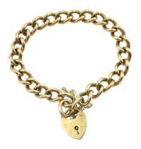 9ct gold curb chain bracelet