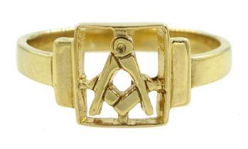 Silver-gilt Masonic ring