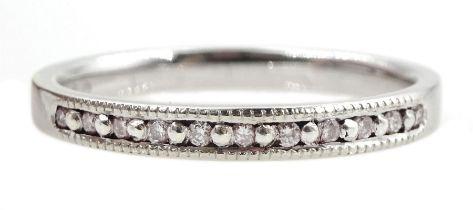 9ct gold diamond half eternity ring