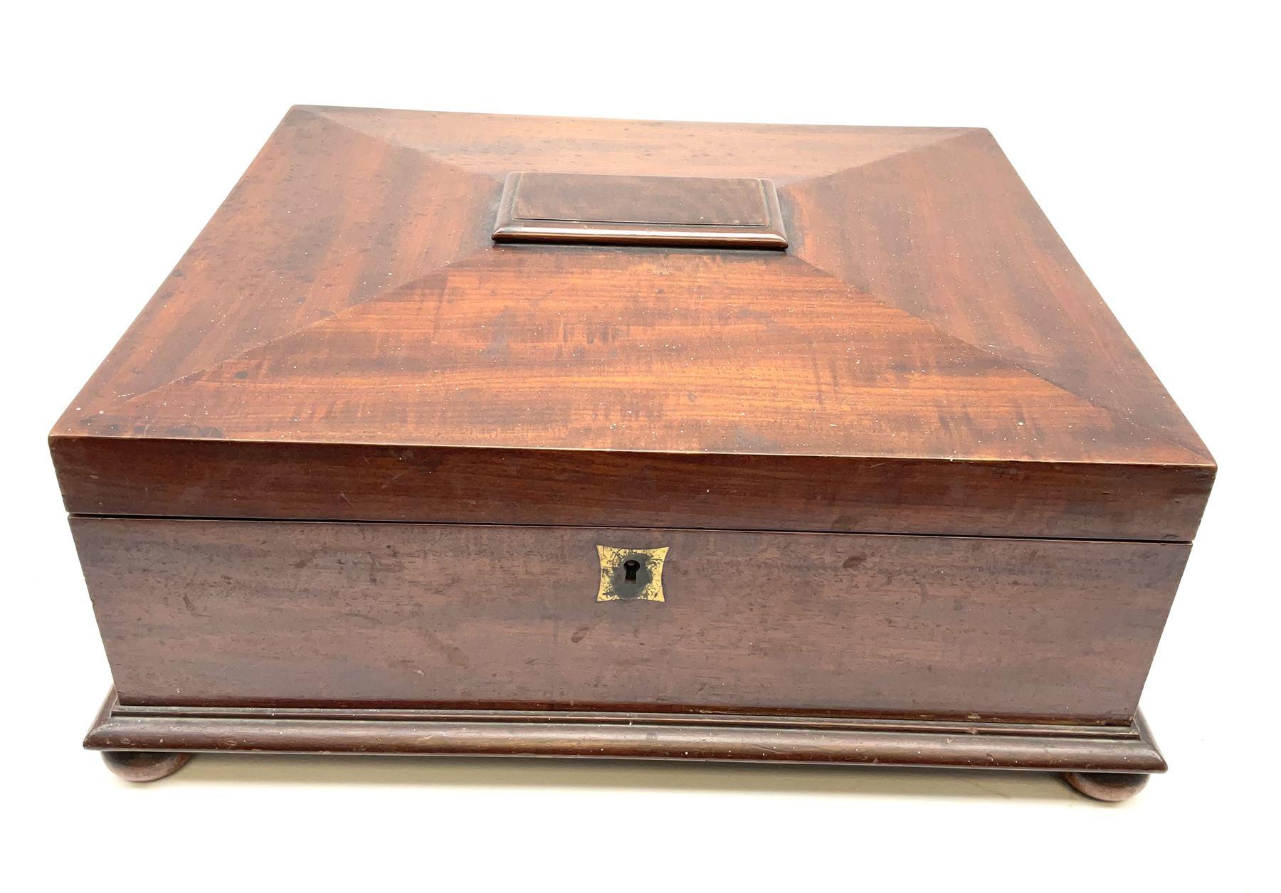 A Victorian mahogany box