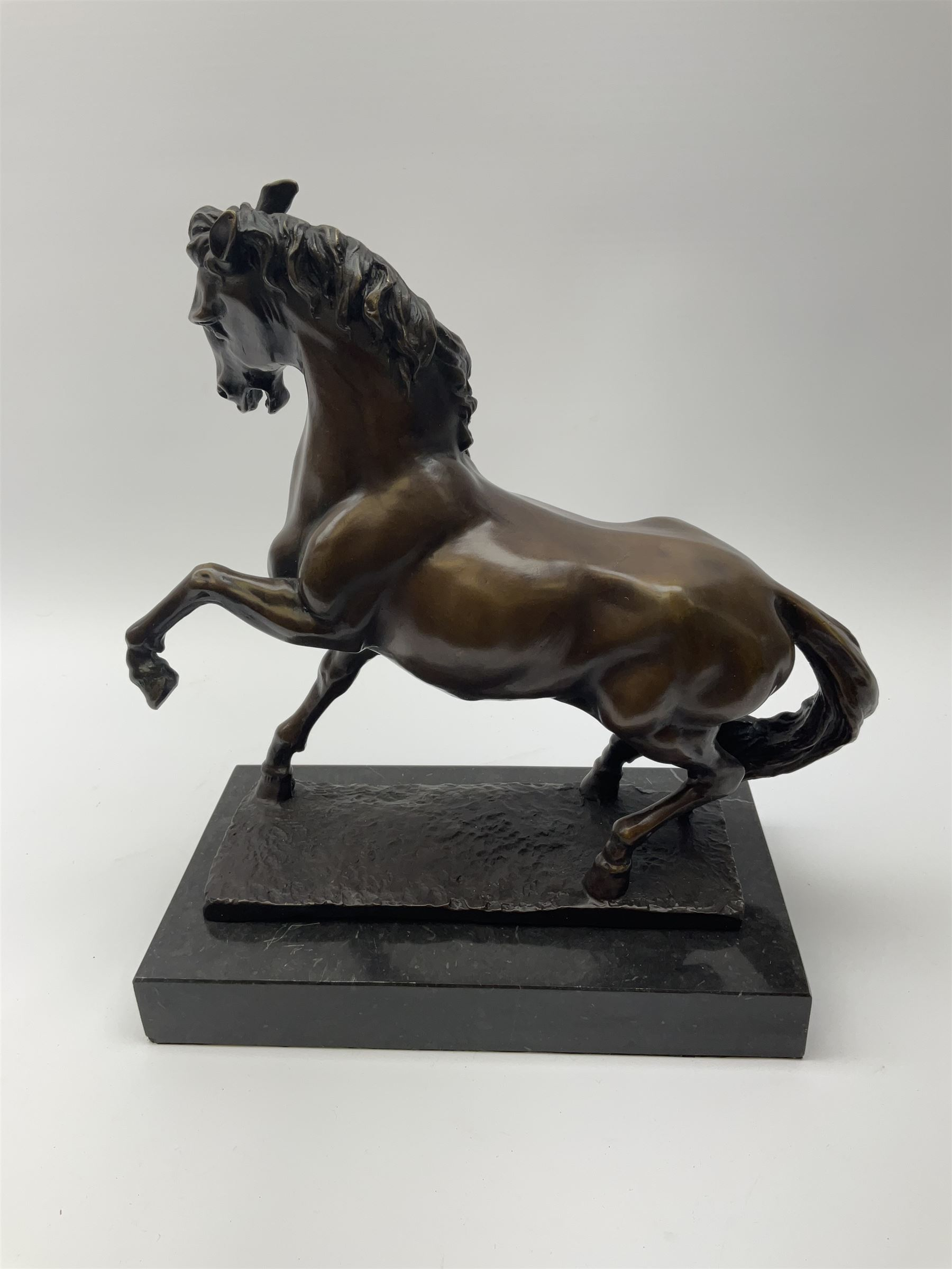 Bronze figure modelled as a prancing horse - Image 2 of 2
