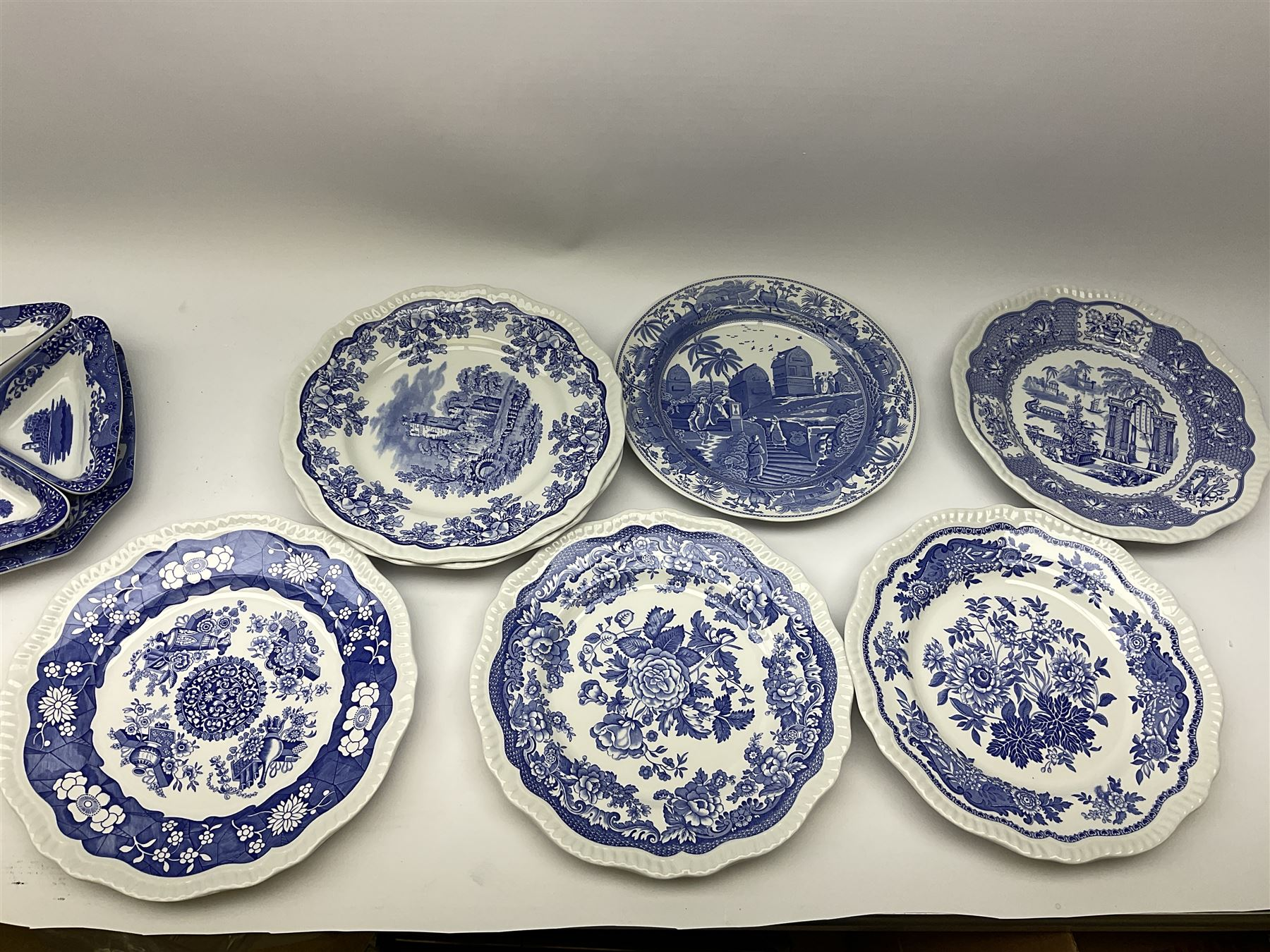 A collection of Spode blue and white ceramics - Image 14 of 16