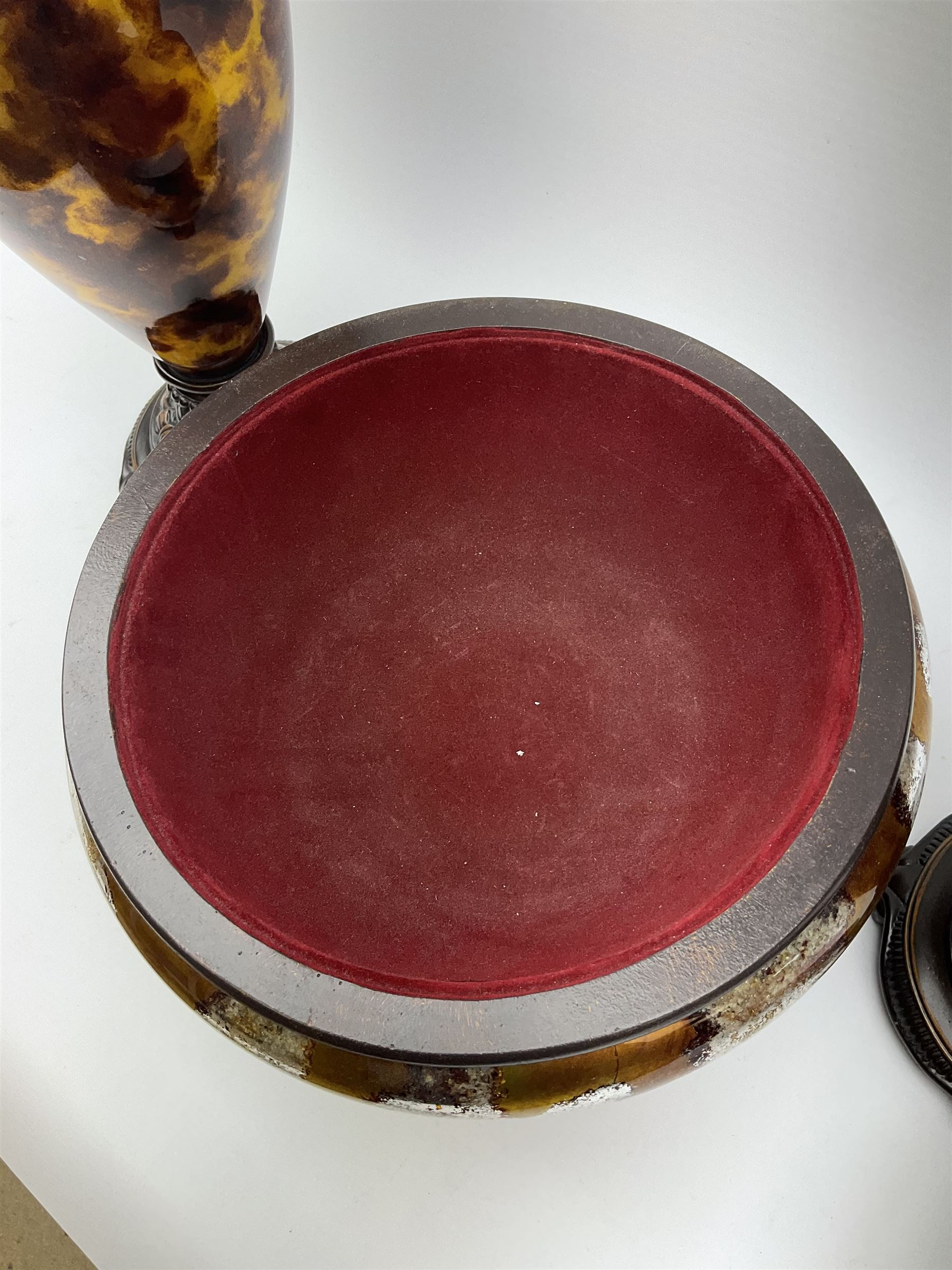 A three piece bronzed composite garniture - Image 2 of 4