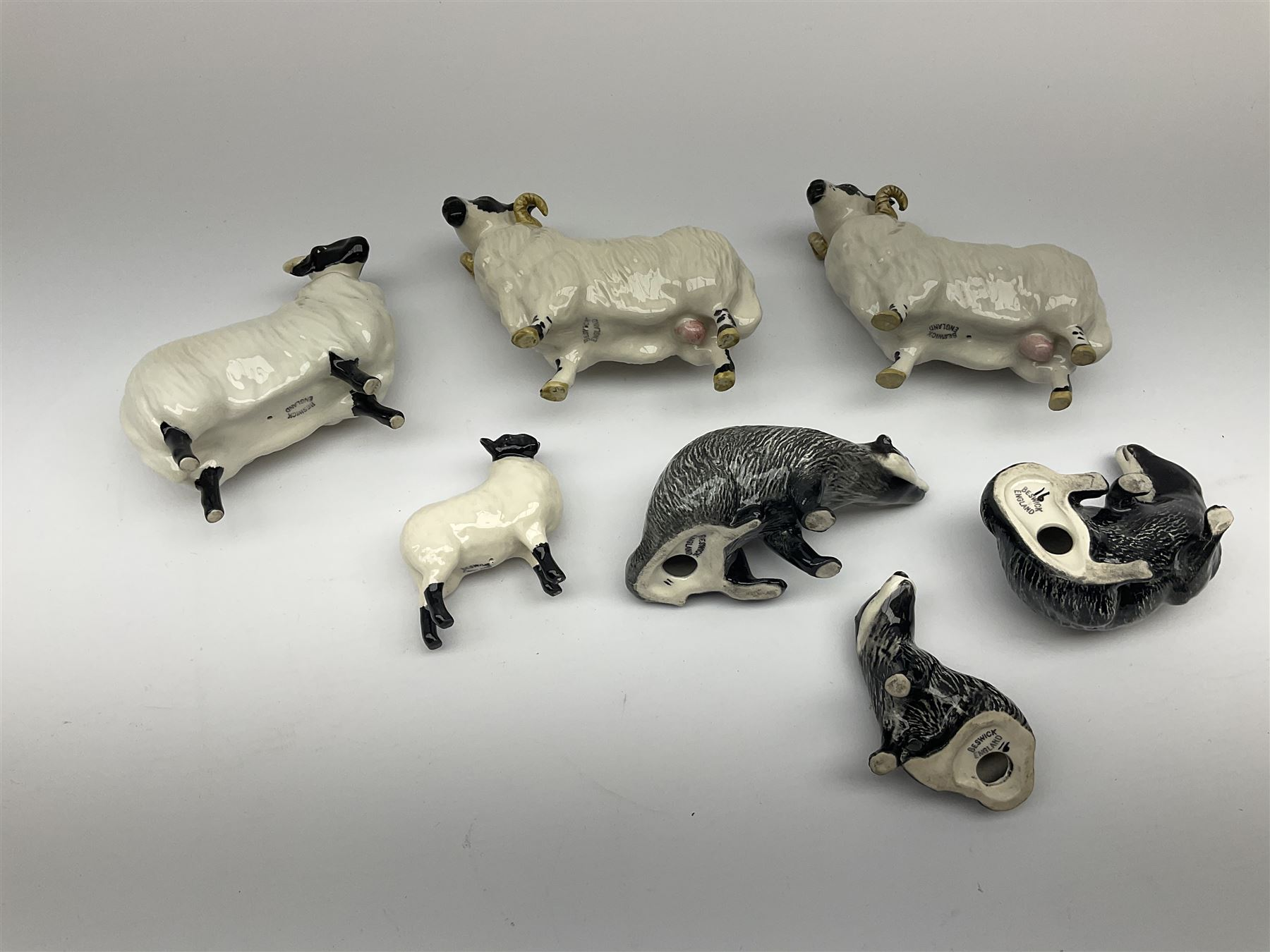 A Beswick Badger family comprising male - Image 3 of 3