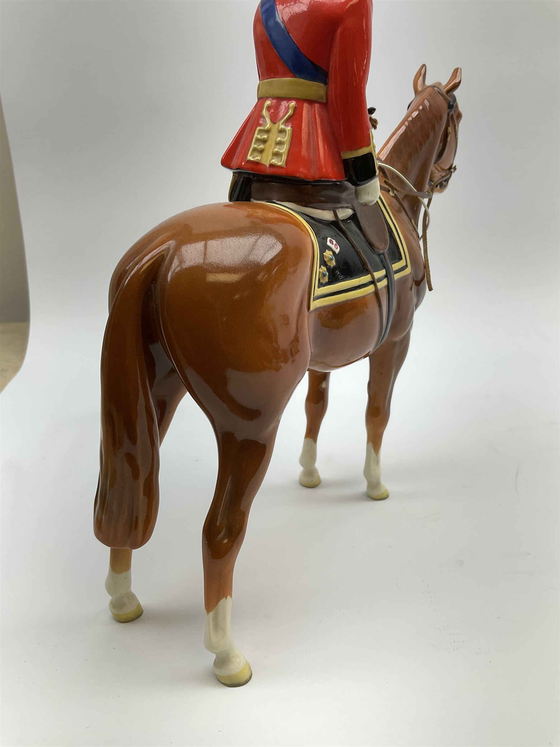 A Beswick model of HM Queen Elizabeth II mounted on Imperial Trooping the colour 1957 - Image 9 of 12