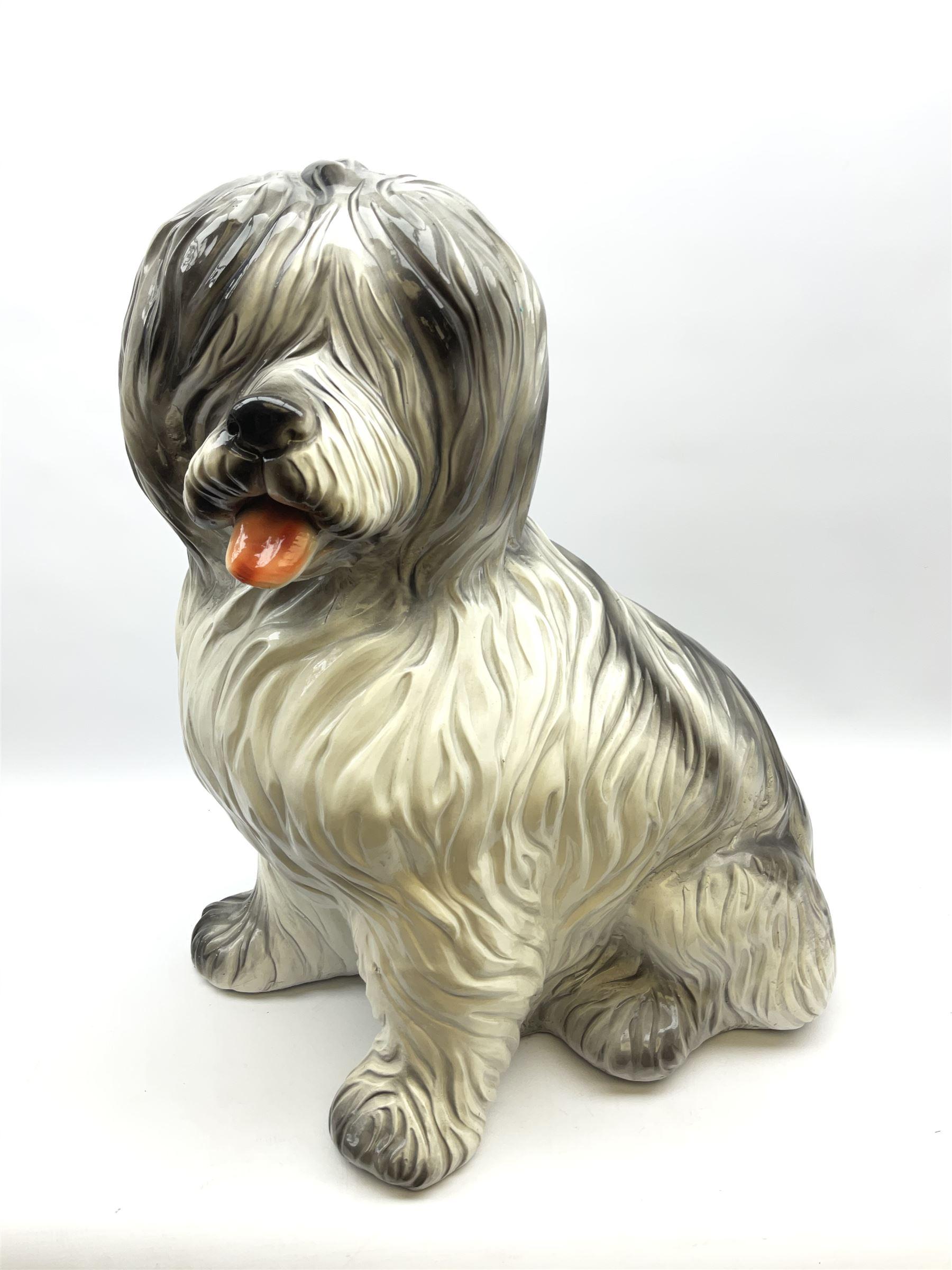 Large stylised composite model of an old English sheep dog