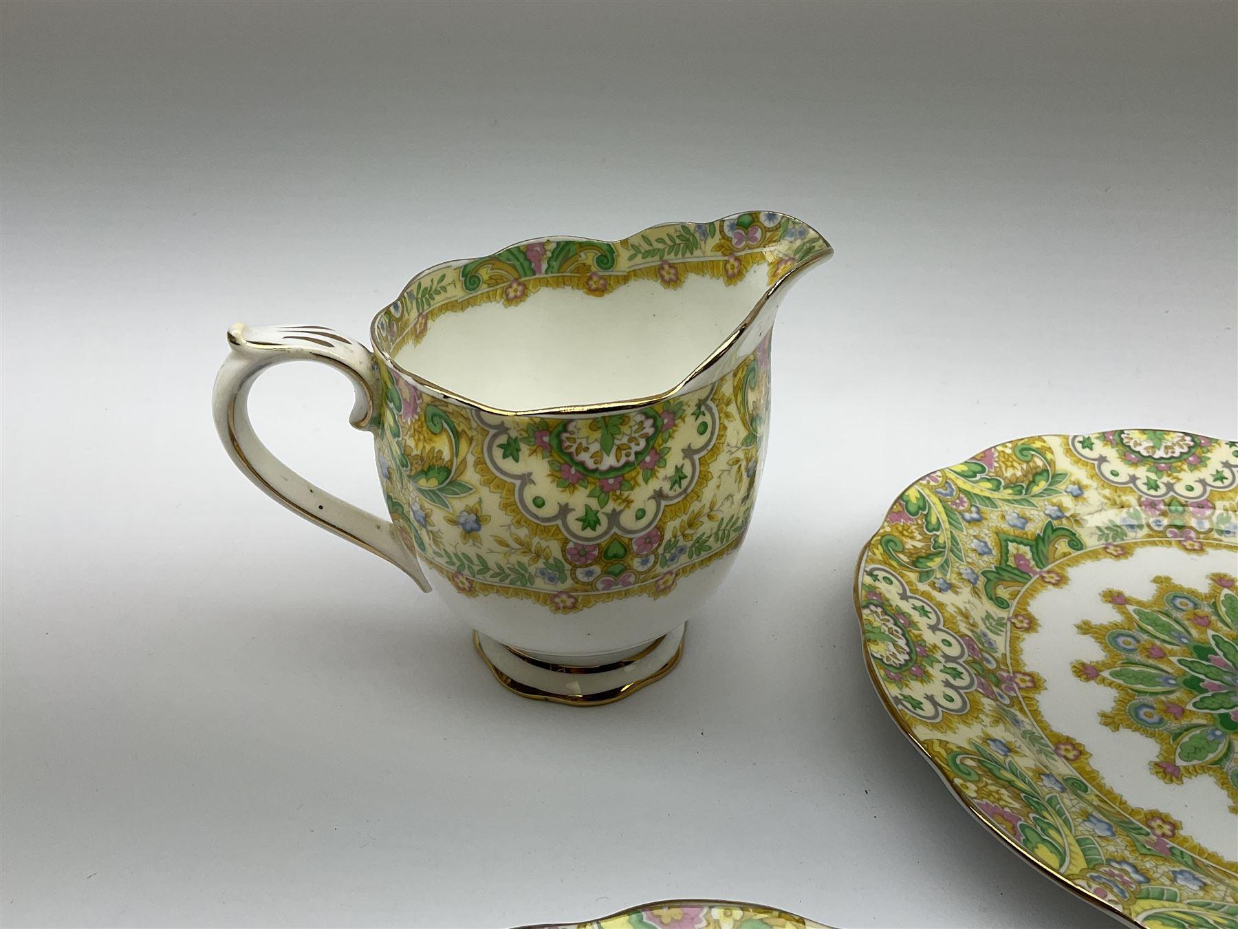 Royal Albert 'Paisley Shawl' pattern part tea set - Image 10 of 12