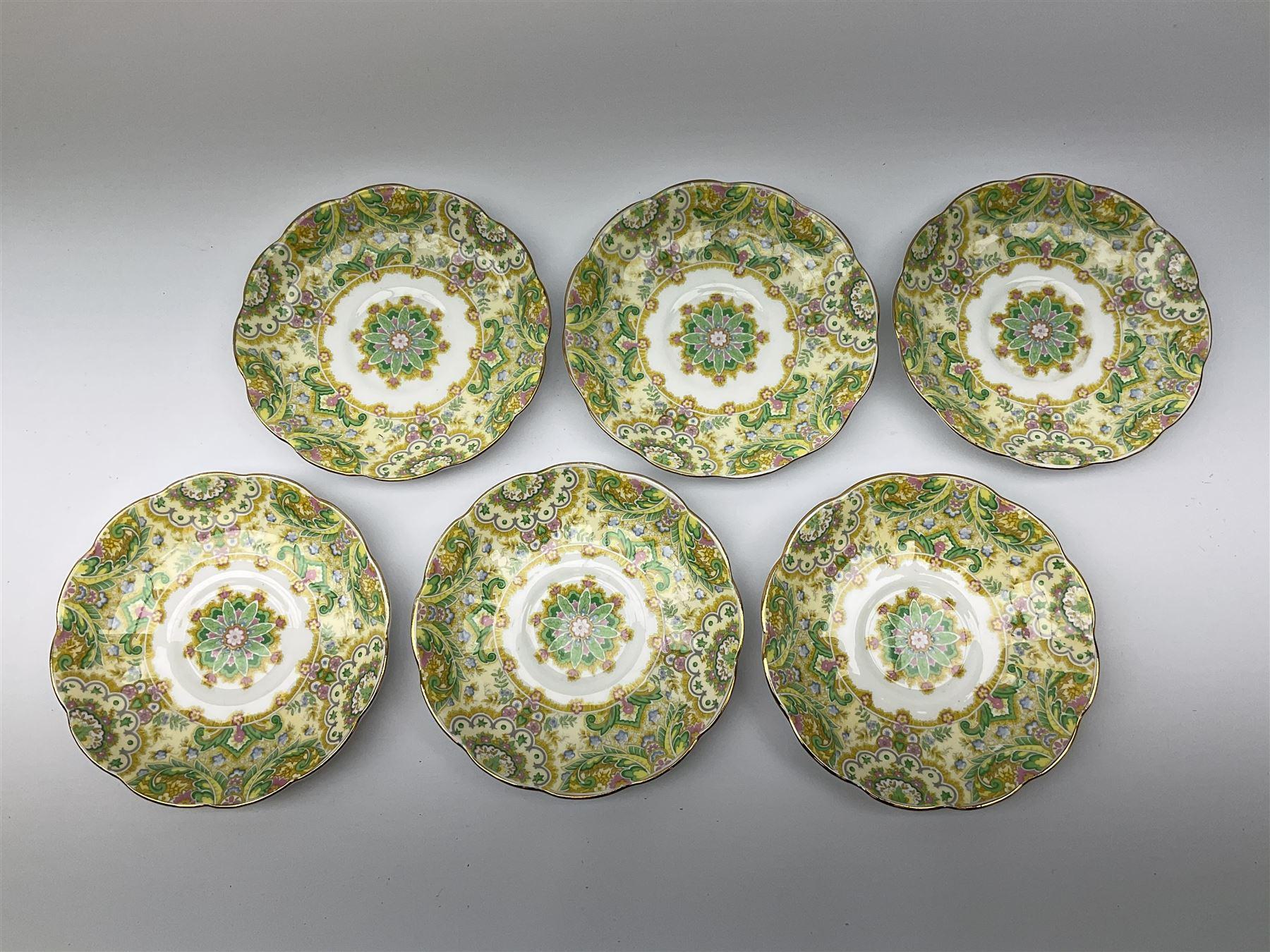 Royal Albert 'Paisley Shawl' pattern part tea set - Image 7 of 12