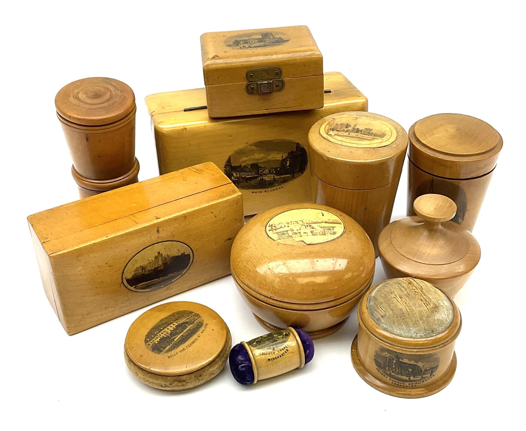 A group of 19th century Mauchline ware