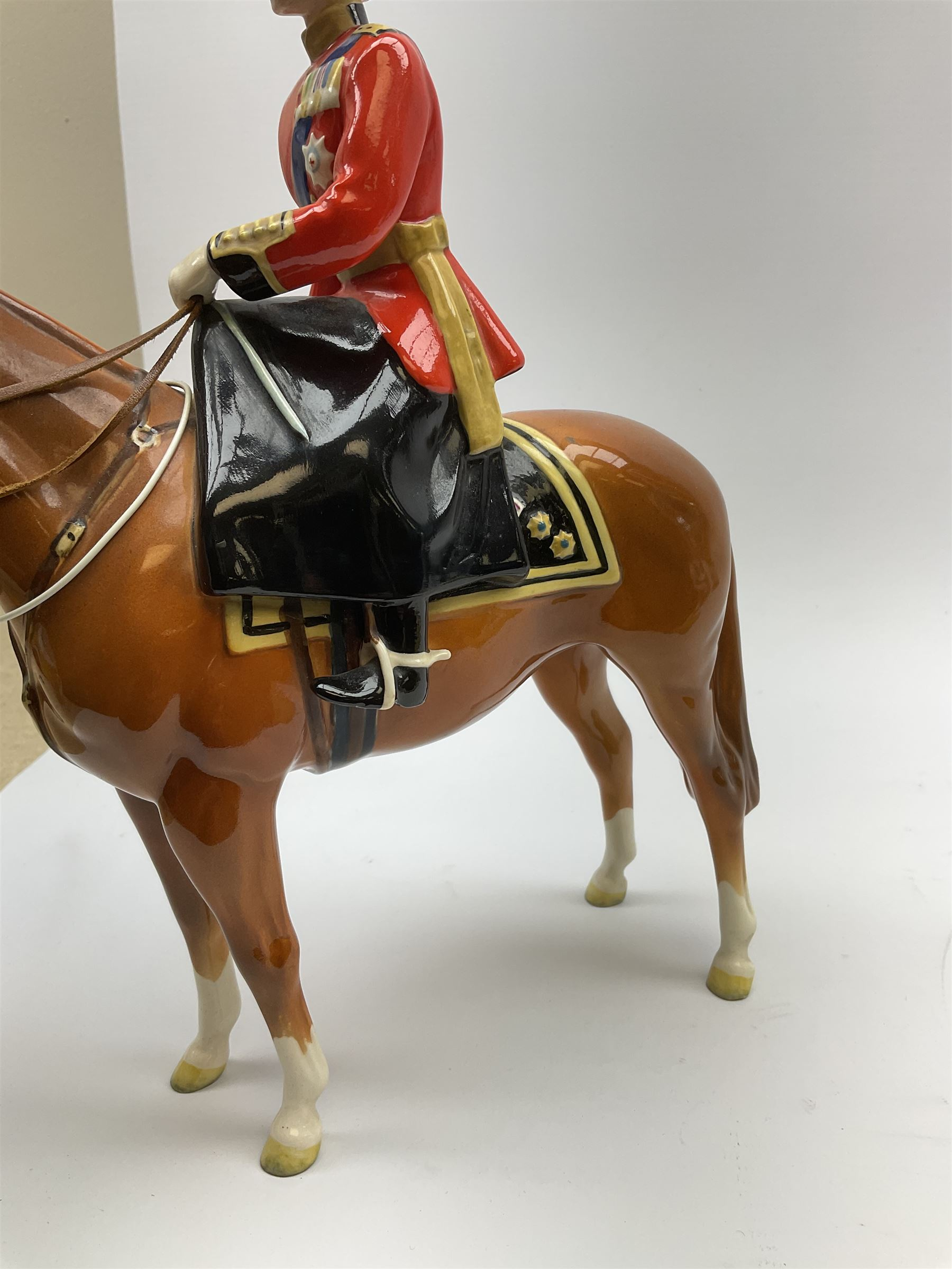 A Beswick model of HM Queen Elizabeth II mounted on Imperial Trooping the colour 1957 - Image 3 of 12