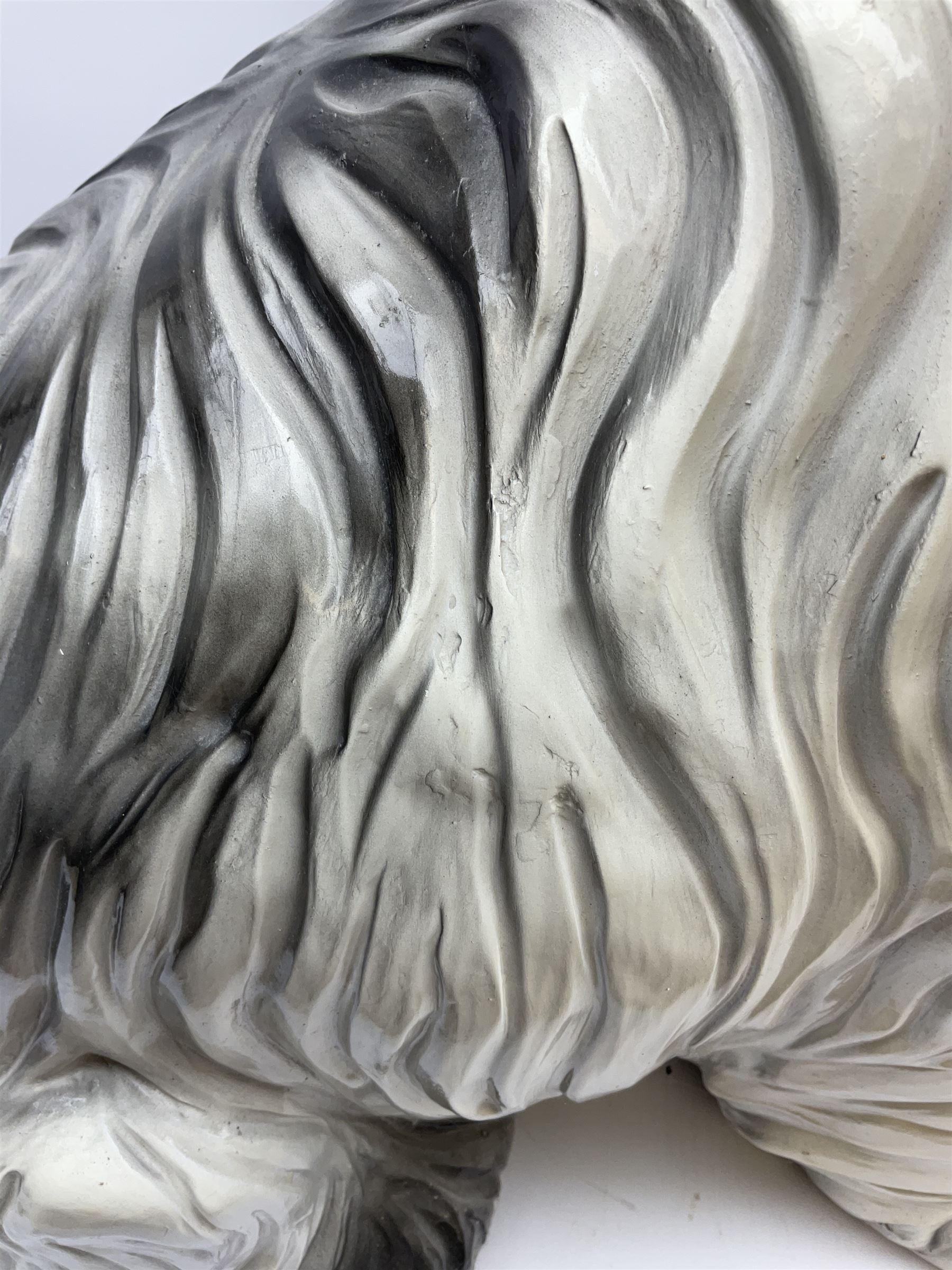 Large stylised composite model of an old English sheep dog - Image 5 of 5